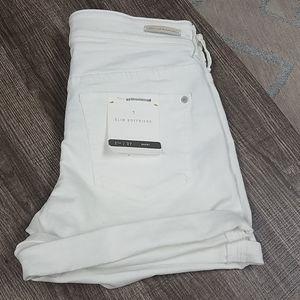 Pilcro + Letterpress Shorts White